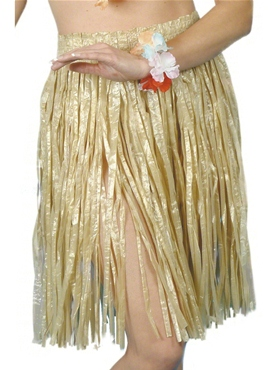 Adult Hula Skirt Natural