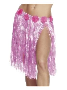 Adult Hula Skirt Neon Pink