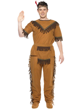 Adult Indian Brave Costume Couples Costume