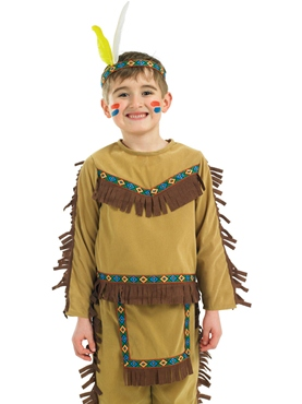 Child Indian Chief Costume - Back View