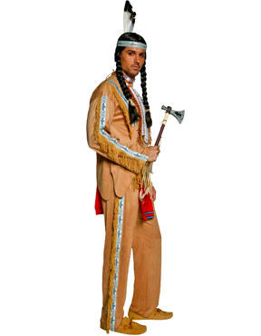 Adult Indian Chief Costume - Side View