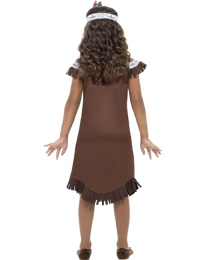 Child Indian Girl Costume - Side View