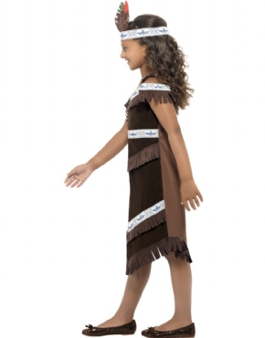Child Indian Girl Costume - Back View