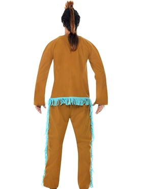 Adult Indian Warrior Costume - Side View
