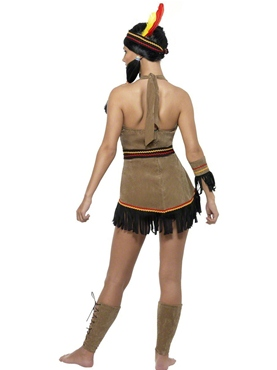 Adult Indian Woman Costume - Side View