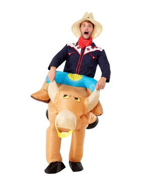 Inflatable Bull Rider Costume - Back View