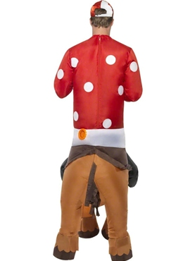 Adult Inflatable Jockey and Horse Costume - Side View