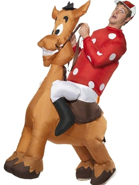 Adult Inflatable Jockey and Horse Costume