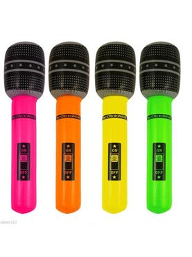 Inflatable Neon Microphone
