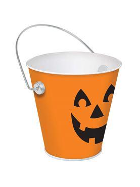 Jack 'o' Lantern Metal Bucket