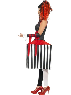 Adult Deluxe Jackie In A Box Costume - Back View