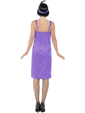 Adult Lilac Jazz Flapper Costume - Side View