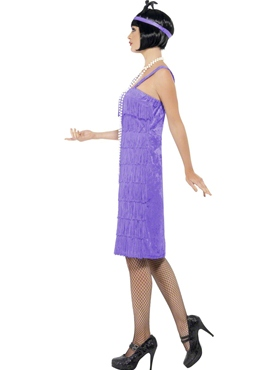 Adult Lilac Jazz Flapper Costume - Back View