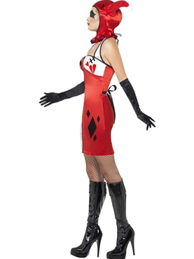 Adult Jester of Broken Hearts Costume - Back View