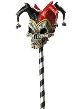 Adult Jester Skull Cane