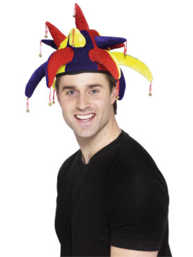 Jesters Hat Red Yellow Blue Velour