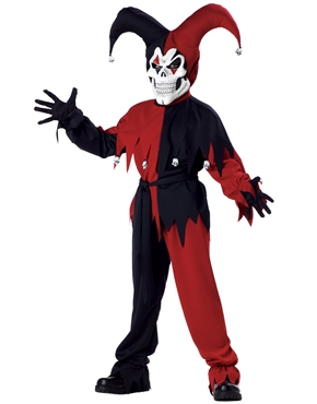 Child Evil Jester Childrens Costume