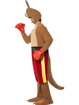 Adult Kangaroo Boxer Costume - Back View