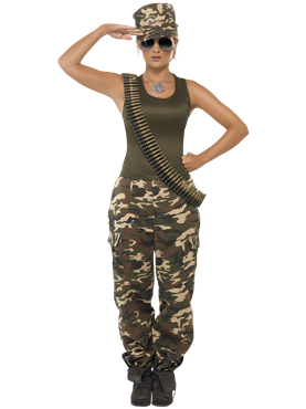 Adult Khaki Camo Army Costume Couples Costume