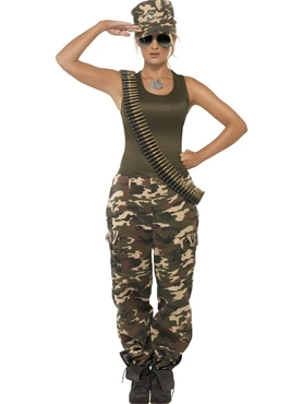 Adult Khaki Camo Army Costume Thumbnail