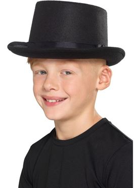Kids Black Top Hat