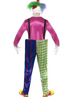 Adult Kolorful Killer Clown Costume - Side View