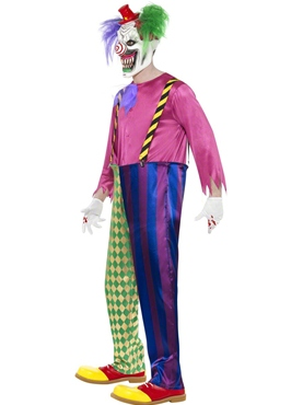 Adult Kolorful Killer Clown Costume - Back View