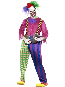 Adult Kolorful Killer Clown Costume