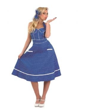Adult Ladies 50s Blue Dress Costume