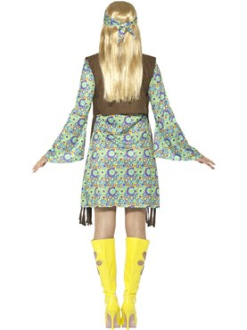 Ladies 60u0027s Hippie Chick Costume - Side View  sc 1 st  Fancy Dress Ball & Ladies 60u0027s Hippie Chick Costume - 43127 - Fancy Dress Ball