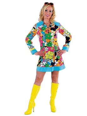 Adult Ladies 60's Hippy Costume