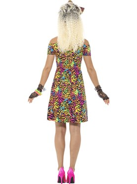 Ladies 80's Party Animal Costume - Side View