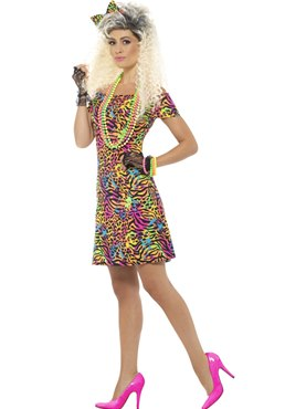 Ladies 80's Party Animal Costume
