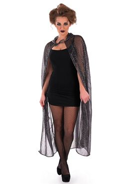 Adult Hooded Spider Web Cape