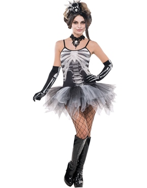 Ladies Bones Skeleton Costume