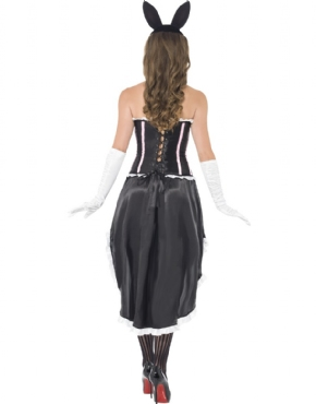 Adult Ladies Bunny Burlesque Costume - Side View