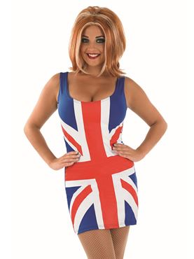 Adult Union Jack Dress Costume - Back View