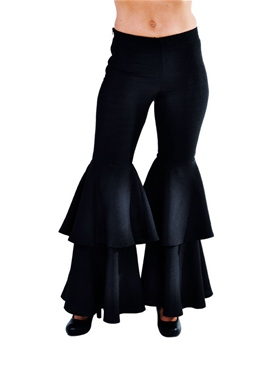 Adult Ladies Deluxe Black Hippie Trousers