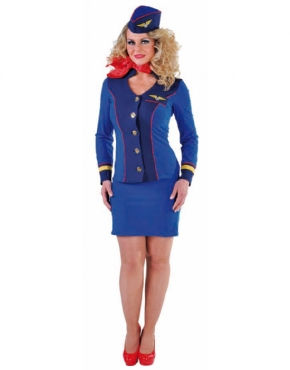 Adult Ladies Deluxe Flight Attendant Costume