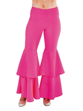Adult Ladies Deluxe Pink Hippie Trousers