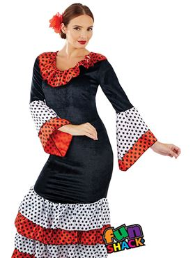 Ladies Flamenco Dancer Costume