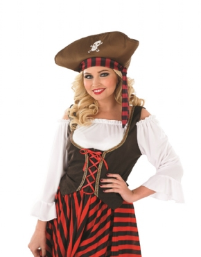 Adult Pirate Girl Costume - Back View