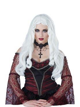 Ladies Gothic En Blanc Wig