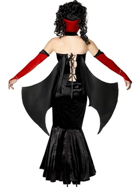 Adult Gothic Manor Vampire Costume - Back View