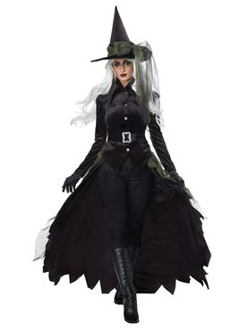 Ladies Gothic Witch Costume - Side View