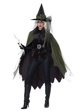 Ladies Gothic Witch Costume - Back View