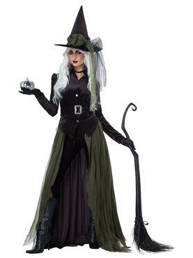 Ladies Gothic Witch Costume