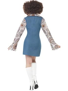 Adult Ladies Groovy Disco Dancer Costume - Side View