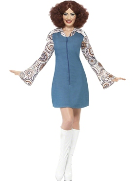 Adult Ladies Groovy Disco Dancer Costume Thumbnail