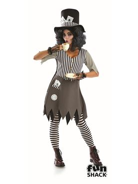 Ladies Hallowed Hatter Lady Costume Couples Costume